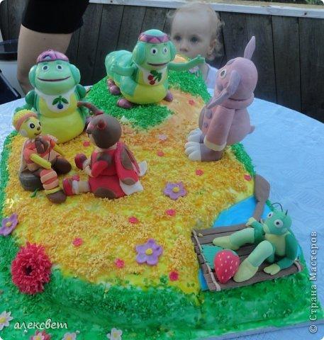 Здраствуйте. Вот такой торт Нина  сама приготовила   для своей доченьки Насте на 2 годика. фото 4