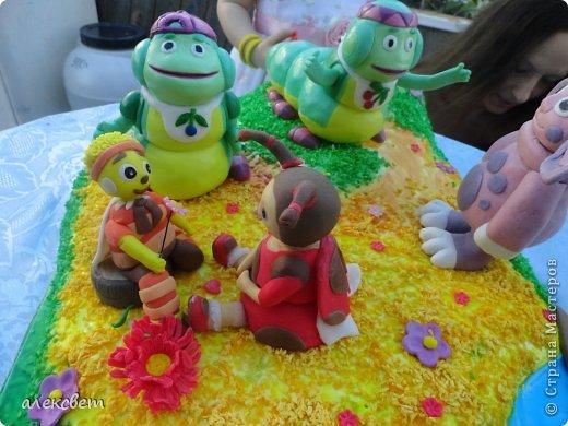 Здраствуйте. Вот такой торт Нина  сама приготовила   для своей доченьки Насте на 2 годика. фото 7