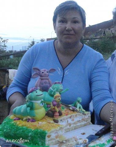 Здраствуйте. Вот такой торт Нина  сама приготовила   для своей доченьки Насте на 2 годика. фото 11