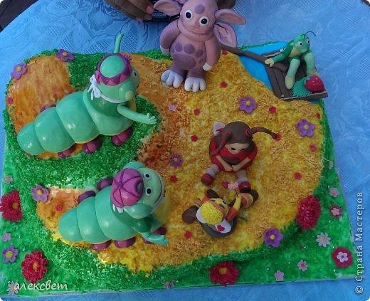 Здраствуйте. Вот такой торт Нина  сама приготовила   для своей доченьки Насте на 2 годика. фото 9