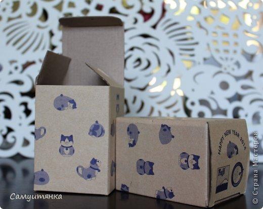 Первый опыт в декорировании коробочки. Для декупажа использовала бумажные пакеты ) фото 2