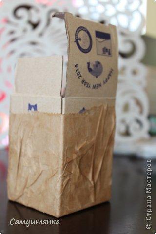 Первый опыт в декорировании коробочки. Для декупажа использовала бумажные пакеты ) фото 3