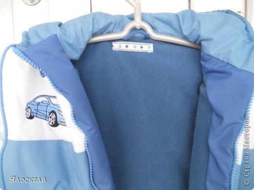 Для осенне-зимней поры сшила для внука два комплекта верхней одежды фото 7