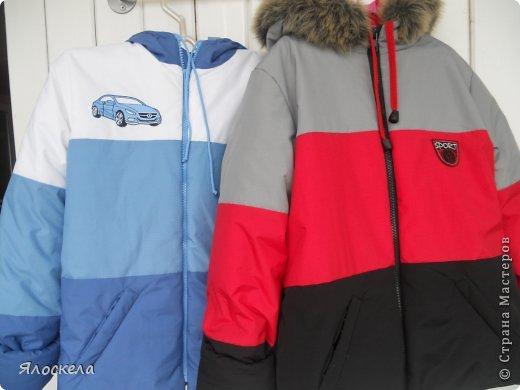 Для осенне-зимней поры сшила для внука два комплекта верхней одежды фото 1