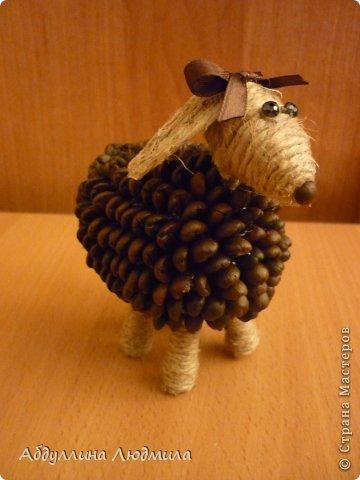 Моя овечка Стеша - кофейная!!! Расскажу немного как делала, потому что много вопросов задают по работам. Так что может кому и пригодится мой мастер-класс!!! фото 17
