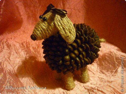 Моя овечка Стеша - кофейная!!! Расскажу немного как делала, потому что много вопросов задают по работам. Так что может кому и пригодится мой мастер-класс!!! фото 15