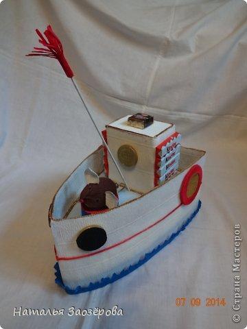 Попыталась сделать кораблик из мультика для мальчика 4-х лет. фото 1