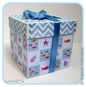 """Добрый день! Потянула меня на разные формы. Вот решила сотворить коробочку, и даже не одну))) 1. Коробочка """"Морская"""" фото 1"""