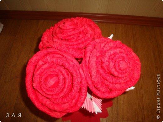 Напольная ваза в технике мод. оригами,собирала без схем,по вдохновению...  фото 2