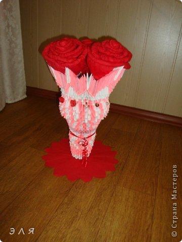 Напольная ваза в технике мод. оригами,собирала без схем,по вдохновению...  фото 1