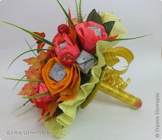 Такой букет смастерила для учителя своей дочери на 1 сентября..надоели банальные букеты из цветов.. а так вроде и оригинально и вкусно.. фото 2