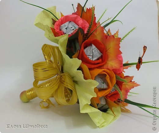 Такой букет смастерила для учителя своей дочери на 1 сентября..надоели банальные букеты из цветов.. а так вроде и оригинально и вкусно.. фото 3