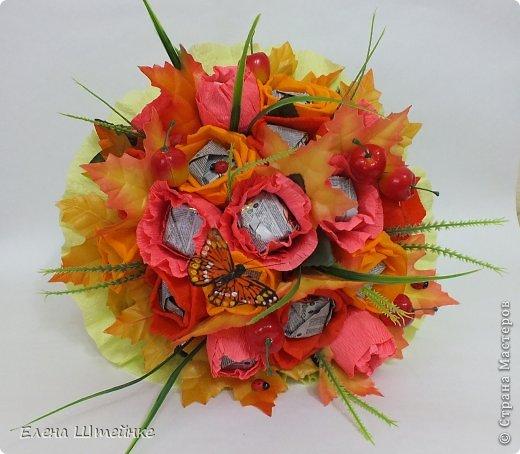 Такой букет смастерила для учителя своей дочери на 1 сентября..надоели банальные букеты из цветов.. а так вроде и оригинально и вкусно.. фото 4