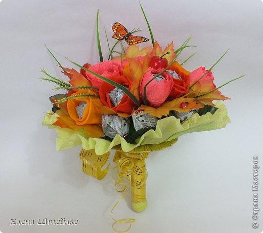 Такой букет смастерила для учителя своей дочери на 1 сентября..надоели банальные букеты из цветов.. а так вроде и оригинально и вкусно.. фото 7