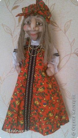 Моя первая кукла в этой технике.Делала по мк Ликмы,за что ей огромное спасибо.Кукла-пакетница,ее рост 80 см фото 2