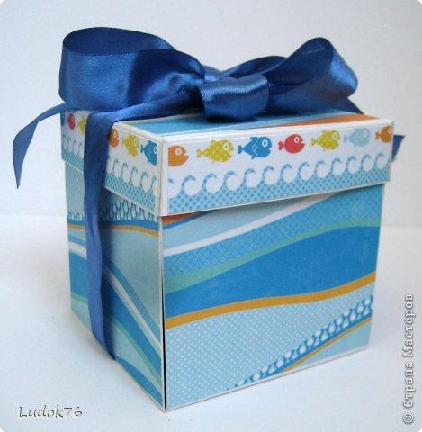 """Добрый день! Потянула меня на разные формы. Вот решила сотворить коробочку, и даже не одну))) 1. Коробочка """"Морская"""" фото 5"""