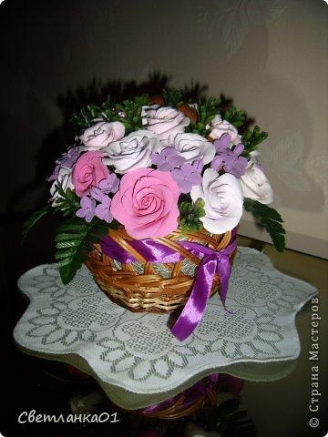 Все цветы сделаны из глины ДЕКО и добавлена искусственная зелень. фото 2