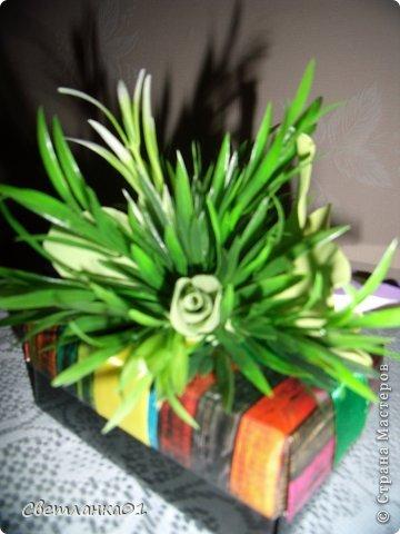 Задекорированные коробочки, можно использовать  дополнением к подарки на торжество. фото 4