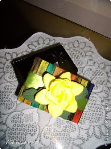 Задекорированные коробочки, можно использовать  дополнением к подарки на торжество. фото 5