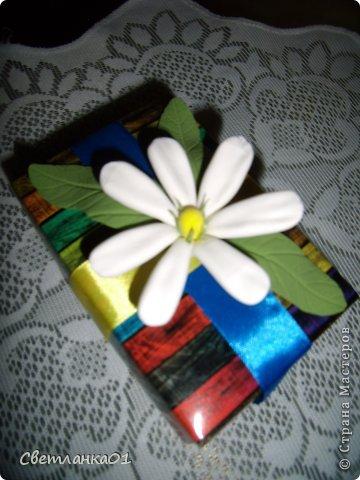 Задекорированные коробочки, можно использовать  дополнением к подарки на торжество. фото 6