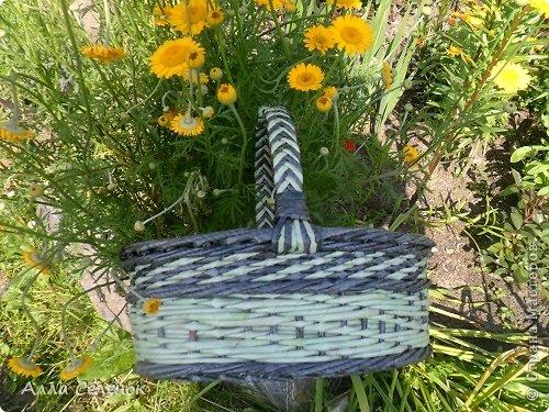 Поделка изделие Плетение Мои корзинки Бумага газетная Трубочки бумажные фото 11