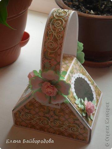 Привет всем жителям Страны Мастеров! Хочу показать свои новые рукоделочки. Начну с коробочки-корзинки. Делала по этому МК http://inkido.blogspot.ru/2010/11/tutorial-pa-gave-box.html фото 1