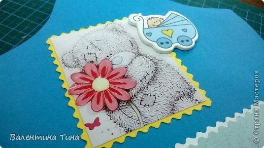 Здравствуйте жители СМ!  Сделала для племянника на годик вот такую открыточку в форме боди.  фото 5