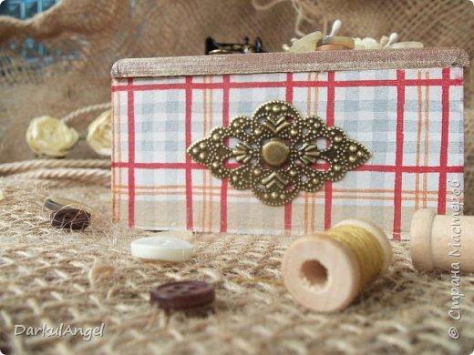 Шкатулка на швейную тематику фото 1