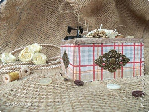 Шкатулка на швейную тематику фото 2