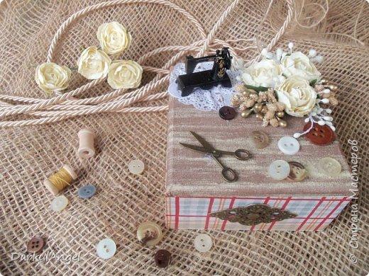 Шкатулка на швейную тематику фото 3