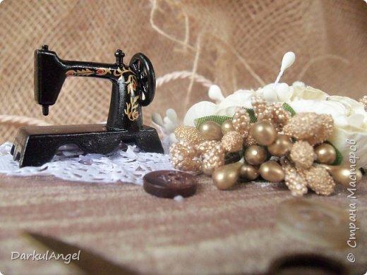 Шкатулка на швейную тематику фото 5