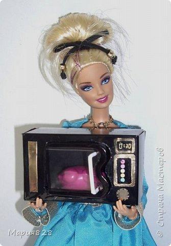 В нашей кухне для куколок не хватает микроволновки. Так, что сегодня куколки поехали в магазин техники.  фото 1