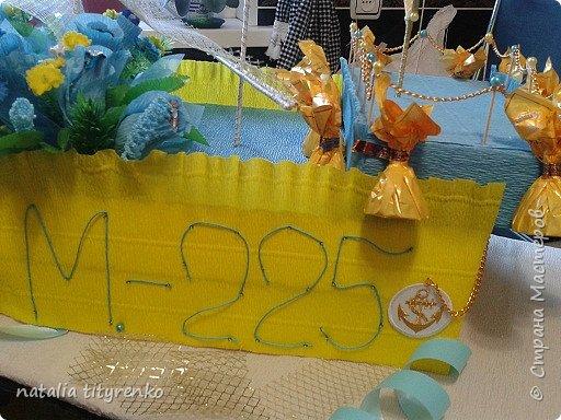 Корабль в желто-голубой гамме ко Дню города. фото 5