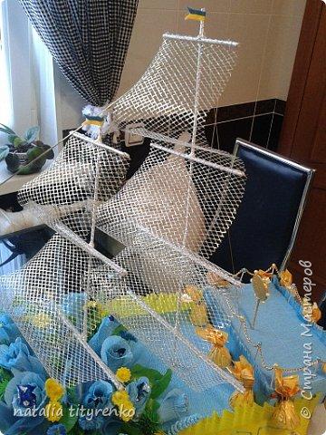 Корабль в желто-голубой гамме ко Дню города. фото 6
