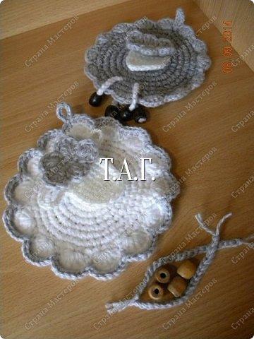 Поделка изделие Новый год Вязание крючком По горам по долам ходит шуба да кафтан Пряжа фото 8