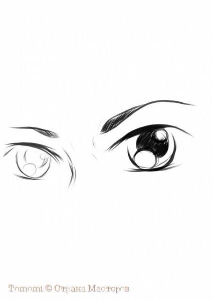 Рисуем Аниме глаза. фото 7