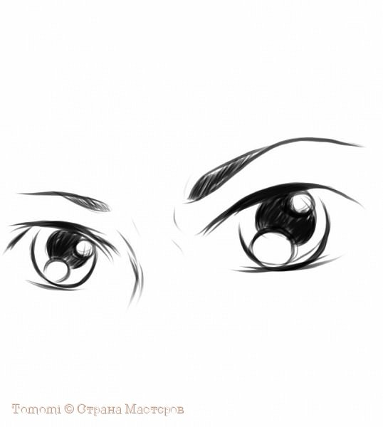 Рисуем Аниме глаза. фото 8