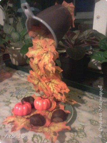 Пришла осень и я решила сделать тематическую парящую чашку - осенний листопад фото 3