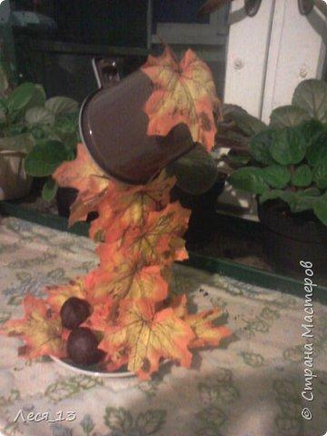 Пришла осень и я решила сделать тематическую парящую чашку - осенний листопад фото 2