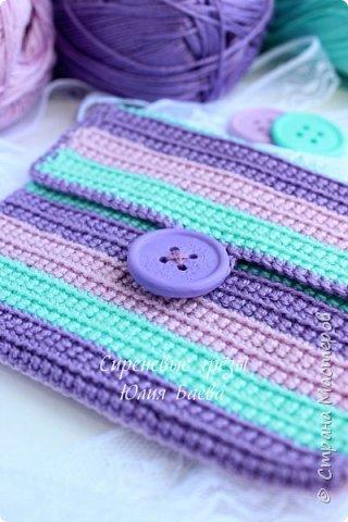 Связался вот такой кошелёчек для девочки ))) Присутствуют все мои любимые цвета. фото 1