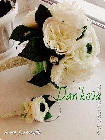 Букет из ранункулюсов, пионов и пионовидных роз.Для свадьбы в зеленом цвете) фото 1