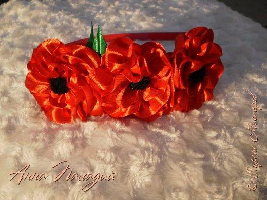 Ободочек с цветочками мака. фото 2