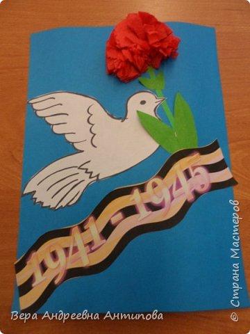 Такие открытки мы развешиваем на подъезды жилых домой к празднику Победы. фото 6