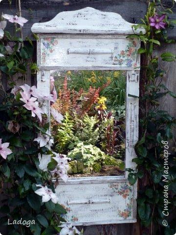 Зеркала в саду это новое в садовом дизайне. Они расширяют пространство, создают иллюзию и маленький сад превращается в большой.  фото 3