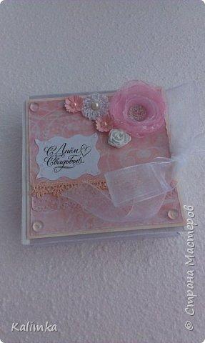 Свадебная коробочка для денежного подарка фото 1