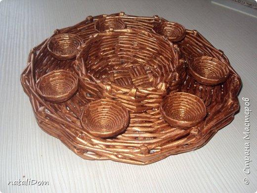 Плетеный лоток для пасхальных яиц фото 1