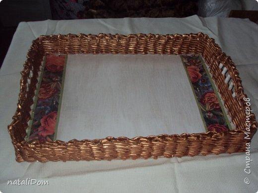 Плетеный лоток для пасхальных яиц фото 2