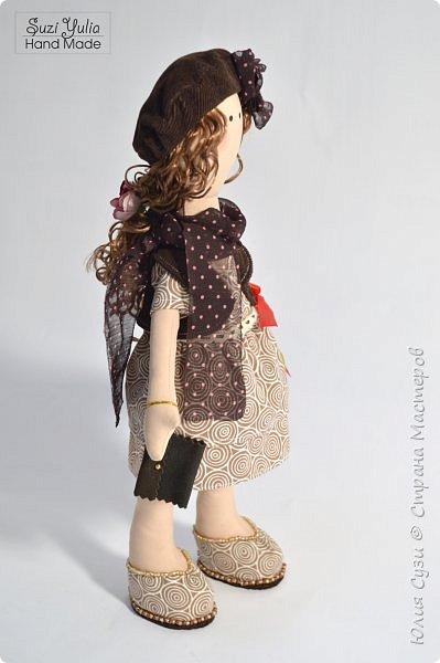 Куколка для коллеги по работе) Платье из американского хлопка, очень приятно с ним работать! фото 3