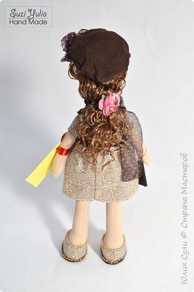 Куколка для коллеги по работе) Платье из американского хлопка, очень приятно с ним работать! фото 4