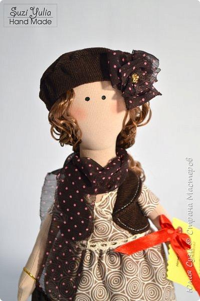 Куколка для коллеги по работе) Платье из американского хлопка, очень приятно с ним работать! фото 1